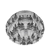 森林霧ナノ シャワー キャップ 二重防水再利用可能 弾性 バス キャップ Spa 調理 洗顔用 多機能