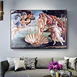 N / A Venus Mural Nacimiento Famoso Cuadro clásico póster en la Pared decoración del hogar Pintura sin Marco 70cmX105cm