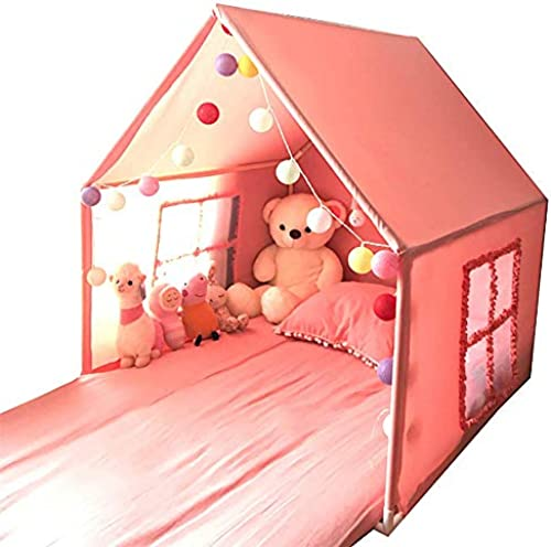 QHWJ Spielhaus, Spielzelt Kinderspielhaus Bettzelt Spielzeugspielzelt Haus unabh iger Spielraum Junge mädchen Innen- und Au spiele