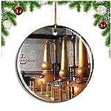 Weekino Destilería de Versalles Kentucky Estados Unidos Decoración de Navidad Árbol de Navidad Adorno Colgante Ciudad Viaje Colección de Recuerdos Porcelana 2.85 Pulgadas