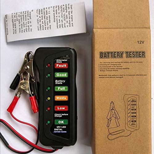RoadRoma Probador de alternador de batería Digital de Coche de 12 V...