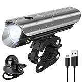 CHYBFU USB Wiederaufladbarer Fahrradscheinwerfer, CREE XPG2 40Lux LED Fahrrad Frontlicht, IPX5 Wasserdicht, Einfach zu Montieren und zu Demontieren, LED Renn- und Mountainbike Licht