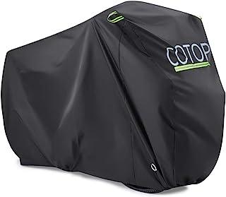 COTOP XL Bike Cover Shed, 210T Nylon Waterproof Motorbike Cover UV Protection Anti Dust Rain for Mountain Bike/Road Bike/T...