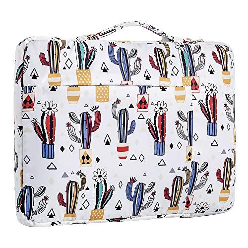15.6 Inch Laptop Sleeve Case Computer Bag,360° Protective Waterproof Laptop Shoulder Bag,Handbag for Most Popular 14'-15.6' Notebooks (15.6 inch, [Y] Cactus)