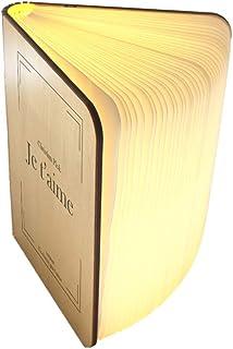 Livre lumineux Personnalisable Lampe Pliante LED Batterie rechargeable USB - Moderne - Lampe LED veilleuse douce, lampe d'...