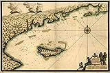 New York Map Company 1700 Karte Betreff: Haiti, Manuscript,