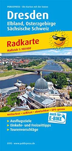 Dresden, Elbland, Osterzgebirge, Sächsische Schweiz: Radkarte mit Ausflugszielen, Einkehr- & Freizeittipps, wetterfest, reissfest, abwischbar, GPS-genau. 1:100000 (Radkarte: RK, Band 195)