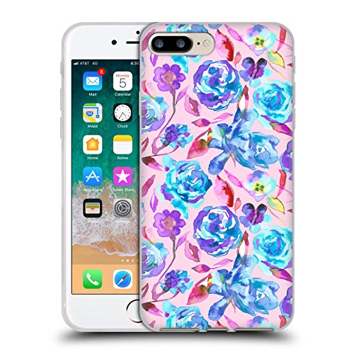 Head Case Designs Licenciado Oficialmente Ninola Acuarela Rosas de Verano Floral Carcasa de Gel de Silicona Compatible con Apple iPhone 7 Plus/iPhone 8 Plus