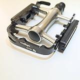 Wellgo M248DU - Pedales de Aluminio para Carreteras de montaña con Reflector