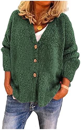 Mujeres Down Otoño Invierno Knit Abrigo Blusa Cardigan