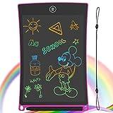 GUYUCOM Tableta de Escritura LCD, Tablero de Dibujo electrónico de 8.5 Pulgadas - Tablero de Graffiti de con Bloqueo de Pantalla borrable para Pinturas niños y Juguete Educativo (Rosa)
