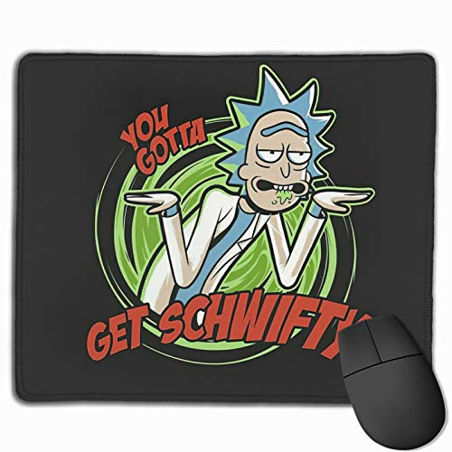 Demo Queen Ri-ck and Mor-ty Mouse Pad Mouse Mat with Stitched Edge Non-Slip Anime Waterproof Rubber Base Large Mouse Pads for Laptops Computers and Pcs 10'X12'