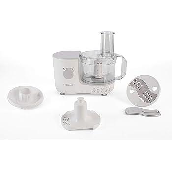 Kenwood Compact Food Processor, 1.4 Litre Bowl, Blender, Emulsifying, Chopping Blade, Shredder Disc 400 W, FP120A, White