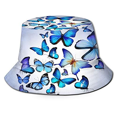 RUEMAT Sombrero Pescador Unisex,Fondos De Mariposas para Fondo De Escritorio,Plegable Sombrero de Pesca Aire Libre Sombrero Bucket Hat para Excursionismo Cámping De Viaje Pescar