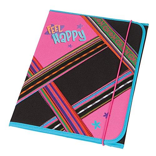 Schneiders HEFTMAPPE Gummizugmappe Sammelmappe File Ordnermappe Ordnungsmappe Vienna (Feel Happy) - 49260-080