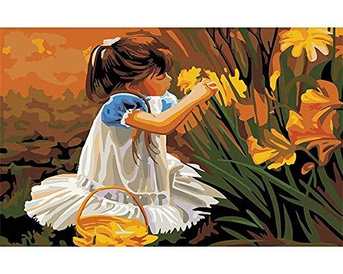 WUSUOWEIJU Pintar por Numeros Adultos Niños Principiantes-DIY Pintura por Números con Pinceles Y Pinturas Puede Utilizar para La Decoración del Hogar 16 * 20 Pulgadas Elegir