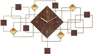 الحديثة ساعات الحائط الهادئة لغرفة المعيشة المطبخ دون دقة الضوضاء ساعات الحائط الجوز + مؤشر معدني شنقا ساعة الكوارتز ساعة