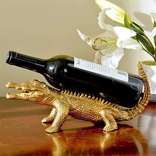 Weinregal Reines Kupfer Crocodile Weinregal Wohnzimmer Weinregal Dekoration Weinregal Esszimmer für Weinkeller Keller (Farbe : Gold, Size : 15x50x10cm)