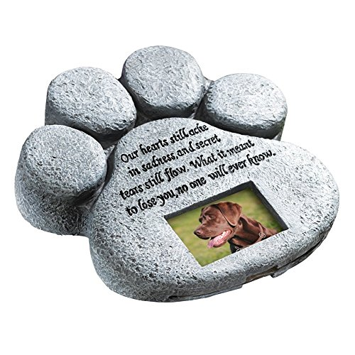 ETC Paw Print Pet Outdoor Memorial Stone