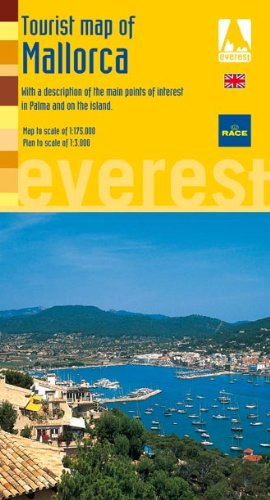Tourist Map of Mallorca. With a description of the main points of interest in palma and on the island (Mapas turísticos/ serie amarilla)