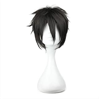 COSPLAZA Cosplay Wigs Short Party Hair Black Boy Anime Synthetic Wig