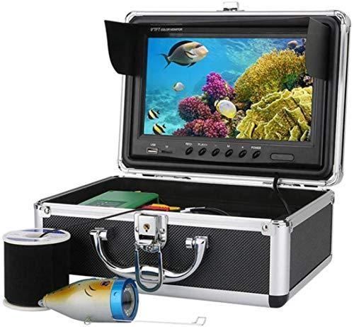 MRWW Pesca portátil 1000TVL cámara HD LCD de 9 Pulgadas, cámara submarina de Buceo buscador de los Pescados, en el Fondo Impermeable DVR CAM Buscador