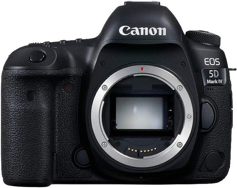 Canon EOS 5D Mark IV Cuerpo de la cámara SLR 30.4MP CMOS 6720 x 4480Pixeles Negro - Cámara Digital (304 MP 6720 x 4480 Pixeles CMOS 4K Ultra HD 800 g Negro)