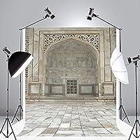 Kate 5x7ft(1.5mx2.2m) レトロなスタイル建物 背景布 撮影用 写真撮影 先端袋縫 無反射 可洗濯 背景紙