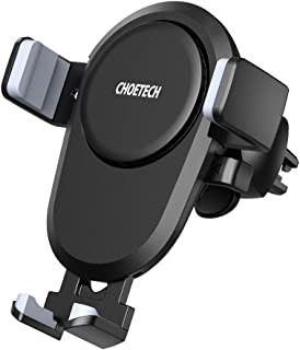 CHOETECH Wireless Car Charger, 7.5W Wireless Car Charging Mount Holder Compatible with iPhone Xs/XS Max/XR/X/ 8/8 Plus, 10W Fast Charging Samsung Galaxy Note 9 S8 S8 Plus S7 S7 Edge S6 Edge Plus