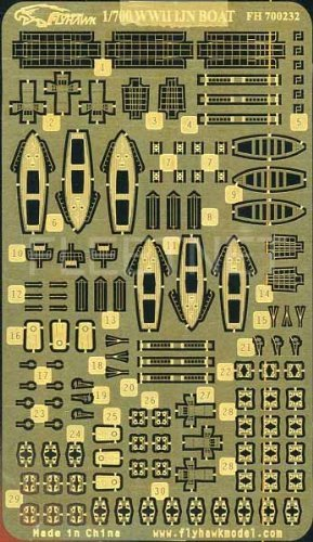 1/700 日本海軍 内火艇・ボート用エッチング(フジミ用)
