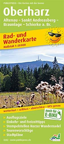 Oberharz - Altenau, St. Andreasberg, Braunlage, Schierke am Brocken: Rad- und Wanderkarte mit Ausflugszielen, Einkehr- & Freizeittipps und ... 1:50000 (Rad- und Wanderkarte: RuWK)