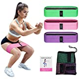 Resistance Bands,Booty Bands for Legs and Butt Exercise Bands - Non Slip Elastic Workout Bands for Home Fitness, Pilates, Yoga, Stretching and More, Anti Slip Hip Bands (3pcs)
