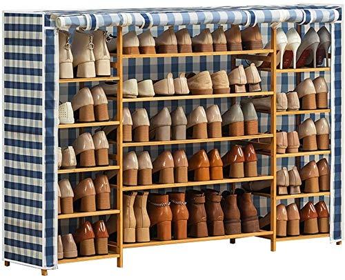 Scarpe da scarpe da scarpe da scarpe da scarpe da stoccaggio Organizzatore Organizzatore Cabinet Tower con coperchio di stoffa Oxford Scacco di stoccaggio per uso in bagno, camera da letto e corridoio