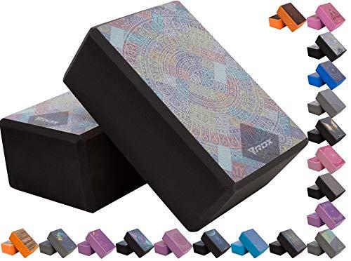 RDX Yoga Block Set, Non-Slip High-Density Eva Foam Brick for Pilates Flexibility Body...