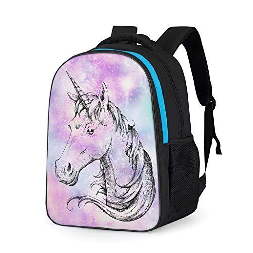 NeiBangM Unicorn Rugzak, eenkleurig, voor op de kleuterschool, voor heren en dames, outdoor, sport, laptoptas, pak voor business