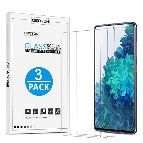 [3 Stück] OMOTON Panzerglasfolie Schutzfolie für Samsung Galaxy S20 FE/ S20 FE 5G mit Positionierhilfe, Anti-Kratzen, Anti-Öl, Anti-Bläschen, Hülle Freundllich, 2.5D Kante