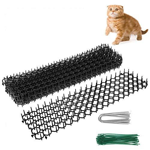 6 Stück Dornengitter Tier-Barriere, Anti-Katzen Hunde Tierabweisende Spikes Zaunmatte Garten Katze Tierabwehr Scat Spike Matte für Garten, Zaun, Anti-Cats Network