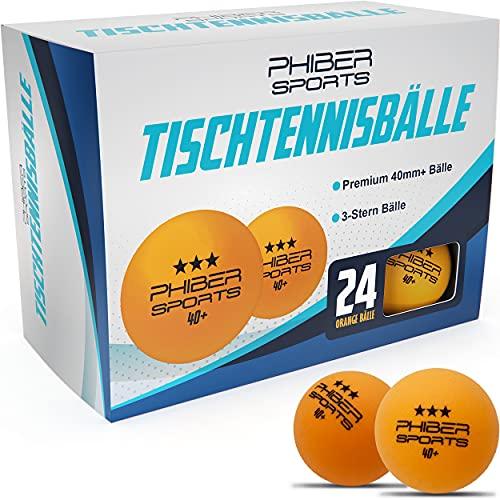 Palle da ping-pong Premium 3 stelle [24 pezzi] Arancione - Caratteristiche di gioco perfette - Ideale per principianti, famiglie e professionisti - Secondo le linee guida della competizione
