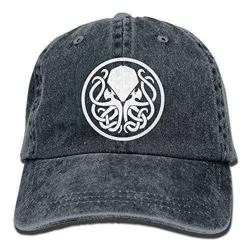 Símbolo de la Insignia de Cthulhu Sombrero de Vaquero Adulto Gorra de béisbol Atlético Ajustable Sombrero de Verano Personalizable para Hombres y Mujeres