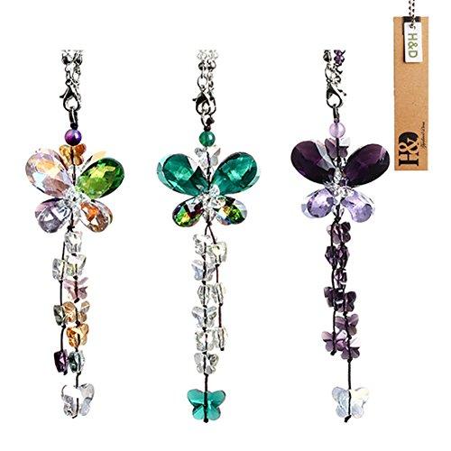 H&D HYALINE & DORA Kistall Regenbogen Sonnenfänger Hängende Schmetterling prismen Fenster Dekor,3 stück