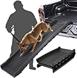 SAVFOX Portable Lightweight Folding Pet Ramp-Great for Cars, Trucks and SUV - Durable Pet Ramp Supports Up to 150 lb Length Ramp, Patented Compact Easy-Fold Design (Black)