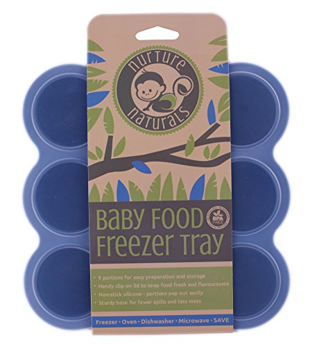 Gefrierform zum Einfrieren und Aufbewahren von Babynahrung/Babykost und als Behälter für Babybrei | 2 Farben zur Auswahl | BPA-frei & FDA zugelassen | 9 x 75ml, ideale Portionsgröße