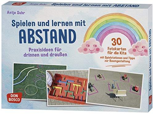 Spielen und lernen mit Abstand – Praxisideen für drinnen und draußen. 30 Fotokarten für die Kita mit Spielstationen und Tipps zur Raumgestaltung ... Ideen für Kindergruppen auf DIN-A5-Karten.)