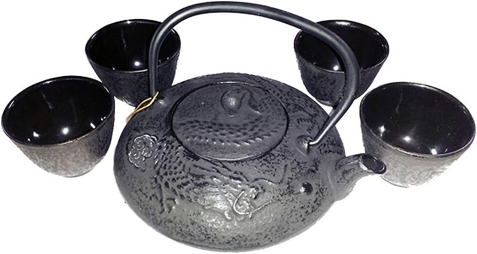 Tucson Mall Happy Sales Japanese Cast Iron Dragon online shopping Pot Black Tea Set