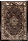 Nain Trading Täbriz - Alfombra oriental (351 x 246 cm), color marrón