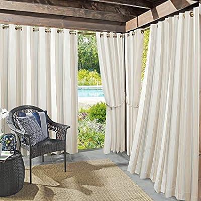 "Sun Zero Valencia Grommet Curtain Panel, 54"" x 108"", Khaki"