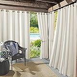 Sun Zero Valencia Grommet Curtain Panel, 54' x 108', Khaki