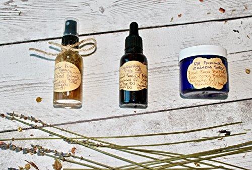 Magical Totality Organic Gift Set, Organic Facial Lavender Rose Oil Face Mist Nourishing Facial Oil Goddess All Around Raw Shea Butter Salve