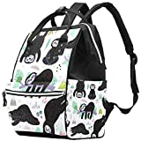Inhomer Cute Sloths Diaper Bag Travel Mom Bags Nappy Backpack Large Capacity for Baby Care