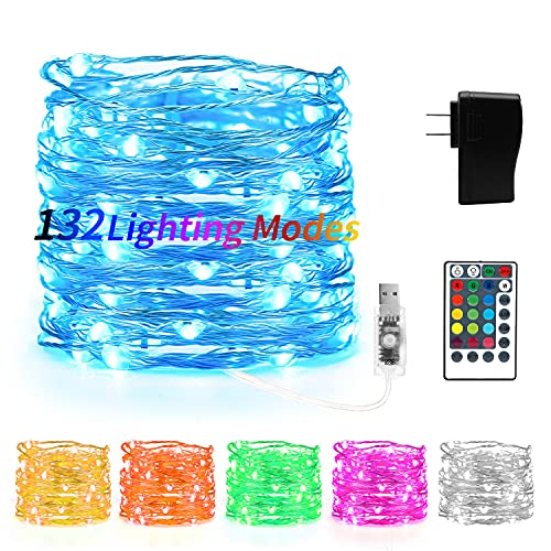 Kaulsoue 132 Lighting Modes 16 Colored Led Fairy Lights Color...